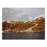 Lona de Santorini Oia Poster
