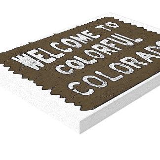 Lona decorativa del signo positivo colorido de Col Impresión En Lienzo Estirada