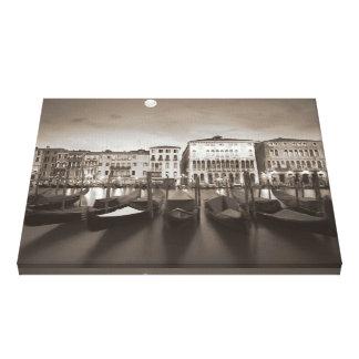 Lona decorativa romántica de Venecia Lienzo Envuelto Para Galerias