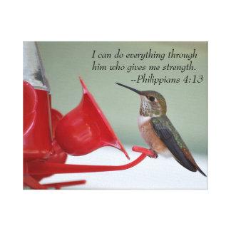 Lona del 4:13 de los filipenses impresión en lienzo