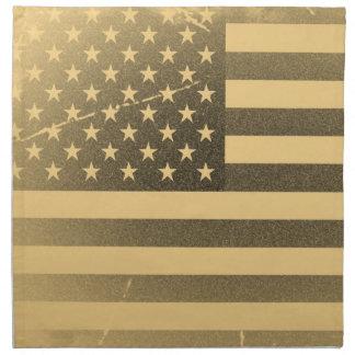 Lona del abrigo de la galería de la bandera americ servilletas imprimidas