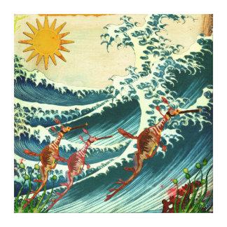 Lona del agua áspera de los dragones del mar lona estirada galerias