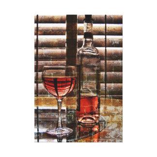 Lona del amante del vino impresion de lienzo