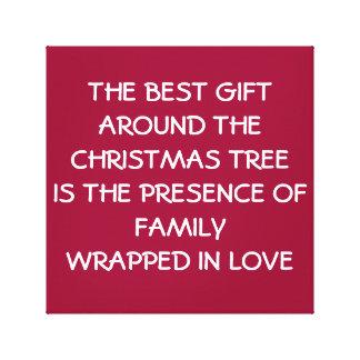 Lona del amor de la familia del navidad impresión en lona