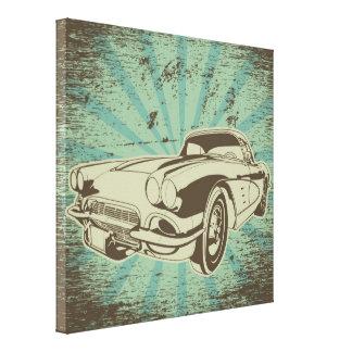 Lona del coche del abuelo lienzo envuelto para galerías