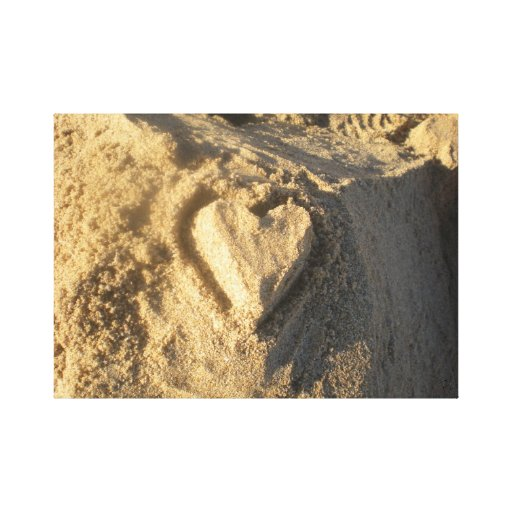 Lona del corazón de la arena lona estirada galerías