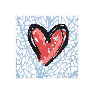 Lona del corazón lona envuelta para galerias