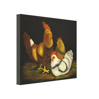 Lona del del gallo y de las gallinas impresiones en lona estiradas