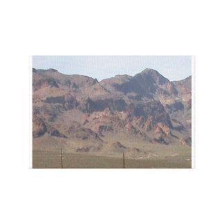 Lona del desierto impresión en lienzo