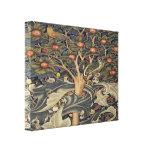 Lona del detalle de la tapicería de la pulsación d lienzo envuelto para galerias