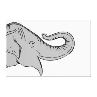 Lona del elefante impresión en lienzo estirada