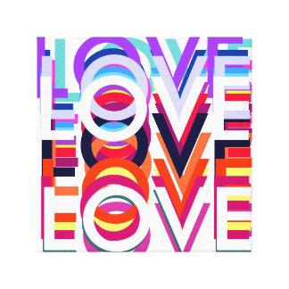 lona del estallido-arte del amor impresión en lienzo estirada