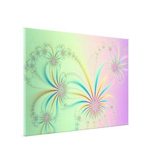 Lona del fractal de la planta de araña lienzo envuelto para galerías