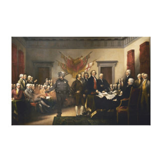 Lona del gas de la Declaración de Independencia Impresiones En Lienzo Estiradas