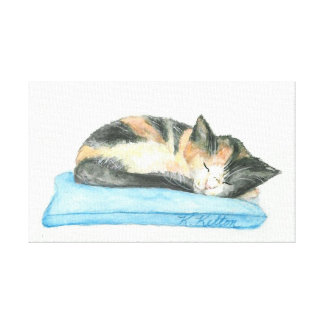 Lona del gatito del gato de calicó el dormir lona estirada galerías