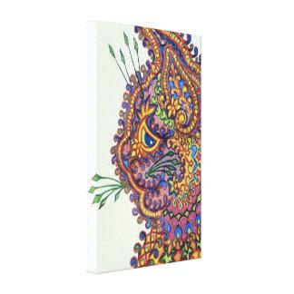 Lona del gato del papel pintado de la fantasía del impresión en lona estirada