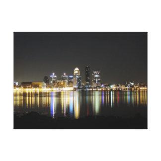 Lona del horizonte de Louisville Impresión En Lona Estirada