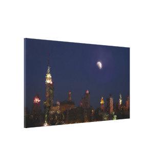 Lona del impresionista del horizonte de la noche impresión en lienzo