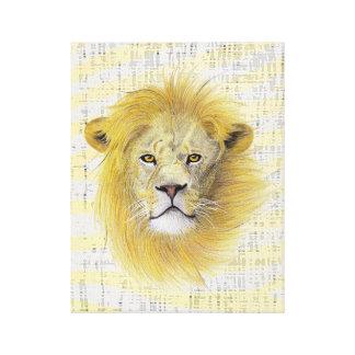 Lona del león impresiones en lienzo estiradas