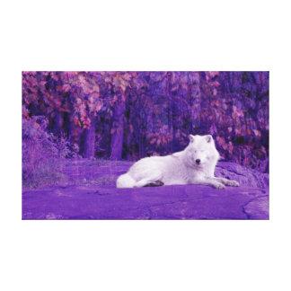 Lona del lobo de la fantasía impresiones en lienzo estiradas