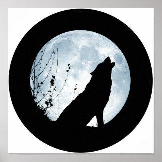 Lona del lobo de la Luna Llena Impresiones