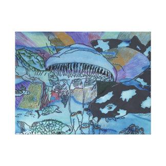 Lona del mundo terrenal impresión en lienzo estirada