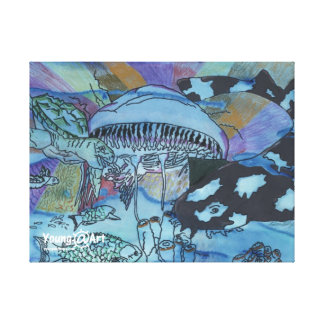Lona del mundo terrenal lienzo envuelto para galerías
