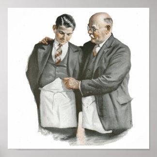 Lona del PADRE y del hijo Póster