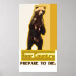 Lona del país del oso poster
