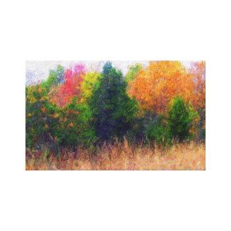 Lona del paisaje del otoño impresiones en lienzo estiradas