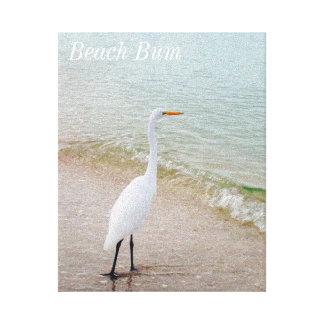 Lona del pájaro del vago de la playa impresión en lienzo