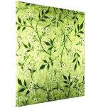 Lona del papel pintado del jazmín de Morris Impresiones En Lona