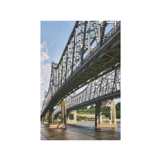 Lona del puente de Mississippi Impresión De Lienzo