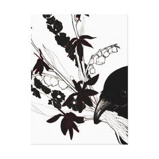 Lona del ramo del cuervo lienzo envuelto para galerías