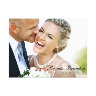 Lona del recuerdo de la foto del boda impresiones en lienzo estiradas