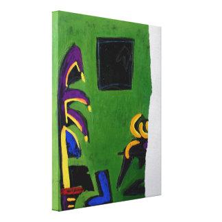 Lona del sitio del verde del libro del artista de impresión en tela