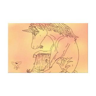 Lona del unicornio y del color impresión en tela