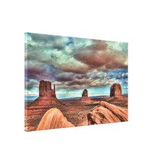 Lona del valle del monumento impresión en lienzo