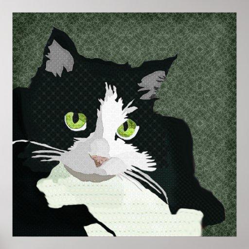 Lona del verde del arte de Mia Poster