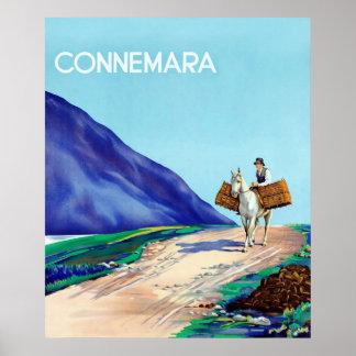 Lona del viaje del irlandés del ~Vintage de Connem Posters