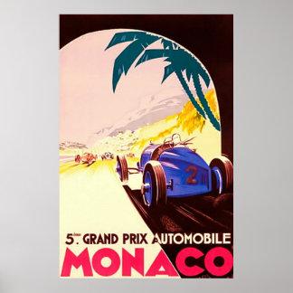 Lona del viaje del ~Vintage de Grand Prix del ~ de Poster