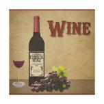 Lona del vino lienzo envuelto para galerías