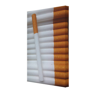 Lona divertida de los fumadores de cigarrillos lienzo envuelto para galerias