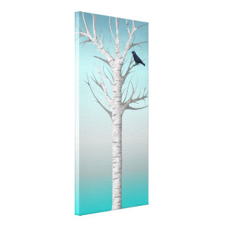 Lona envuelta 10x20 de la arboleda w/bird del impresión en lienzo estirada