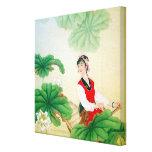 """ lona envuelta 12x12 (lustre) con adorno chino impresión en lienzo estirada"
