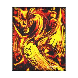 Lona envuelta alcohol del fuego impresiones en lienzo estiradas
