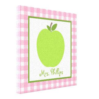 Lona envuelta Argyle verde de Apple para el profes Lona Estirada Galerías
