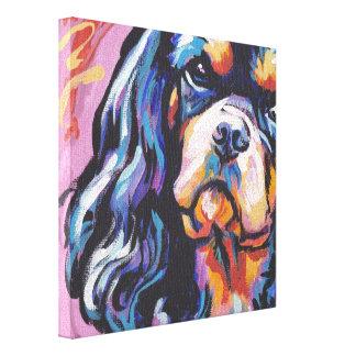 Lona envuelta arrogante del perro de aguas de rey  impresión en lienzo estirada