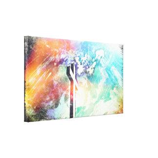 Lona envuelta arte cruzado del Grunge de la Tierra Impresiones En Lona