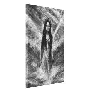 Lona envuelta arte de hadas oscuro de Orig del Impresión En Tela